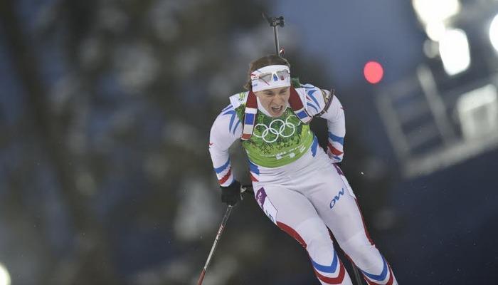 Anaïs Bescond aux Jeux Olympiques de Sotchi (Vianney Thibaut - Agence Zoom)
