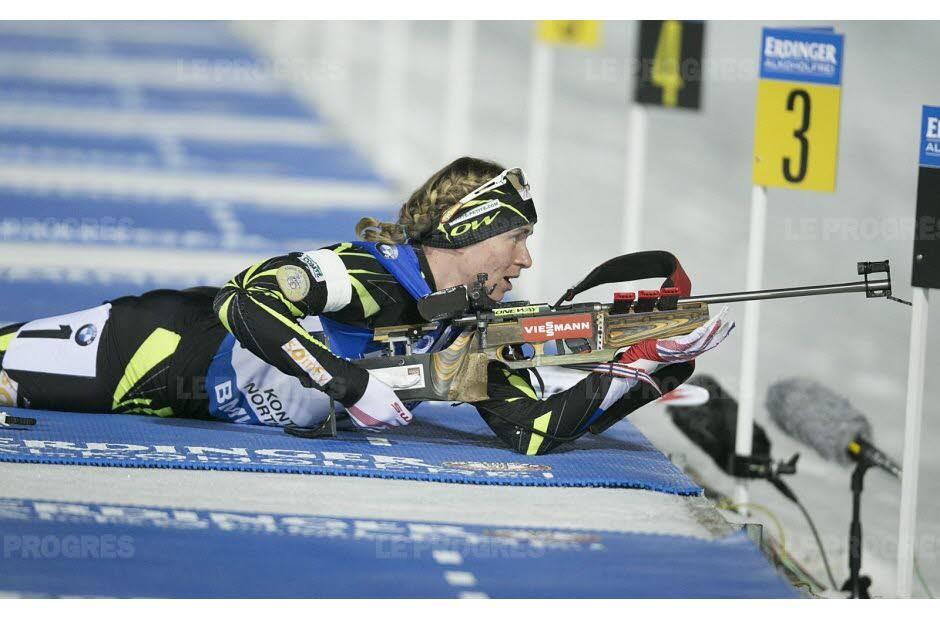Anaïs BESCOND (Biathlon) Photo MAXPPP, Source : Le Progrès